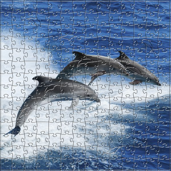 Dolphins - Handcrafted Wooden Puzzle - 204 pieces