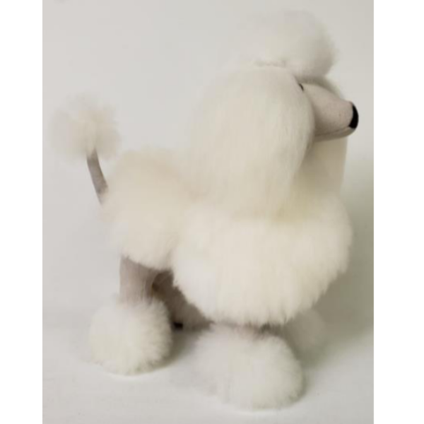 Alpaca Fur Show Poodle in White