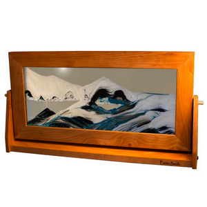 "Sandscape XL - 9"" x 16"" Cherry Framed - Arctic"
