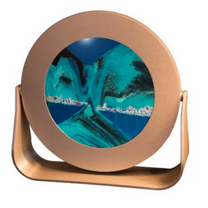 "Sandscape Round 7"" with Silver Frame - Ocean"