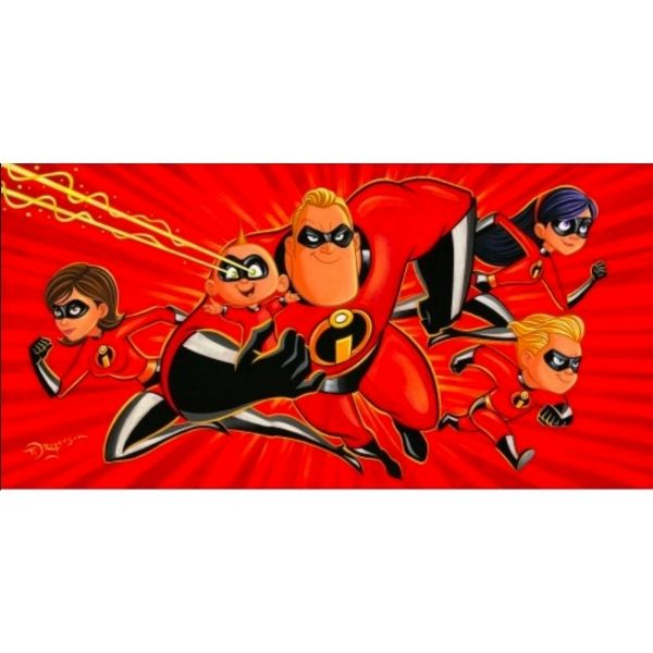 "A Whole Family of Supers by Tim Rogerson - 15"" x 30"" Limited Edition"