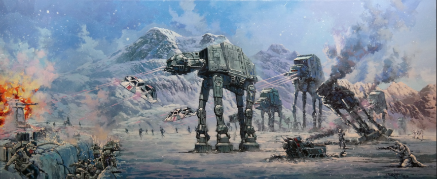 BATTLE OF PLANET HOTH by Rodel Gonzalez  - Paper Print