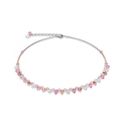 Braided Crystals - Pink & Clear