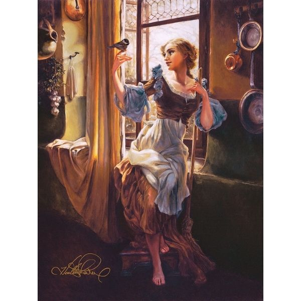 "Cinderella's New Day By Heather Edwards - 24"" x 18"" Signed & Numbered Limited Edition"