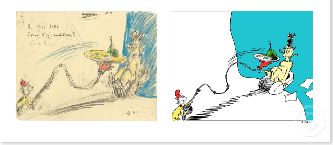 DO YOU LIKE GREEN EGGS AND HAM - Diptych by Dr Seuss