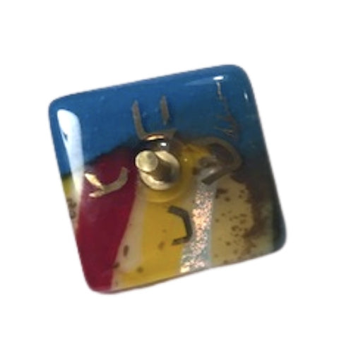 DREIDEL - Small Top with Fused Glass