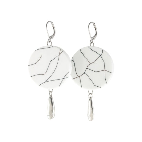 EARRINGS-SHARON - White