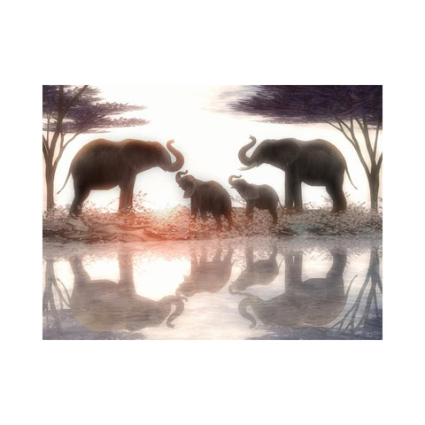 Alan Foxx ELEPHANTS-Elephant Family in Harmony