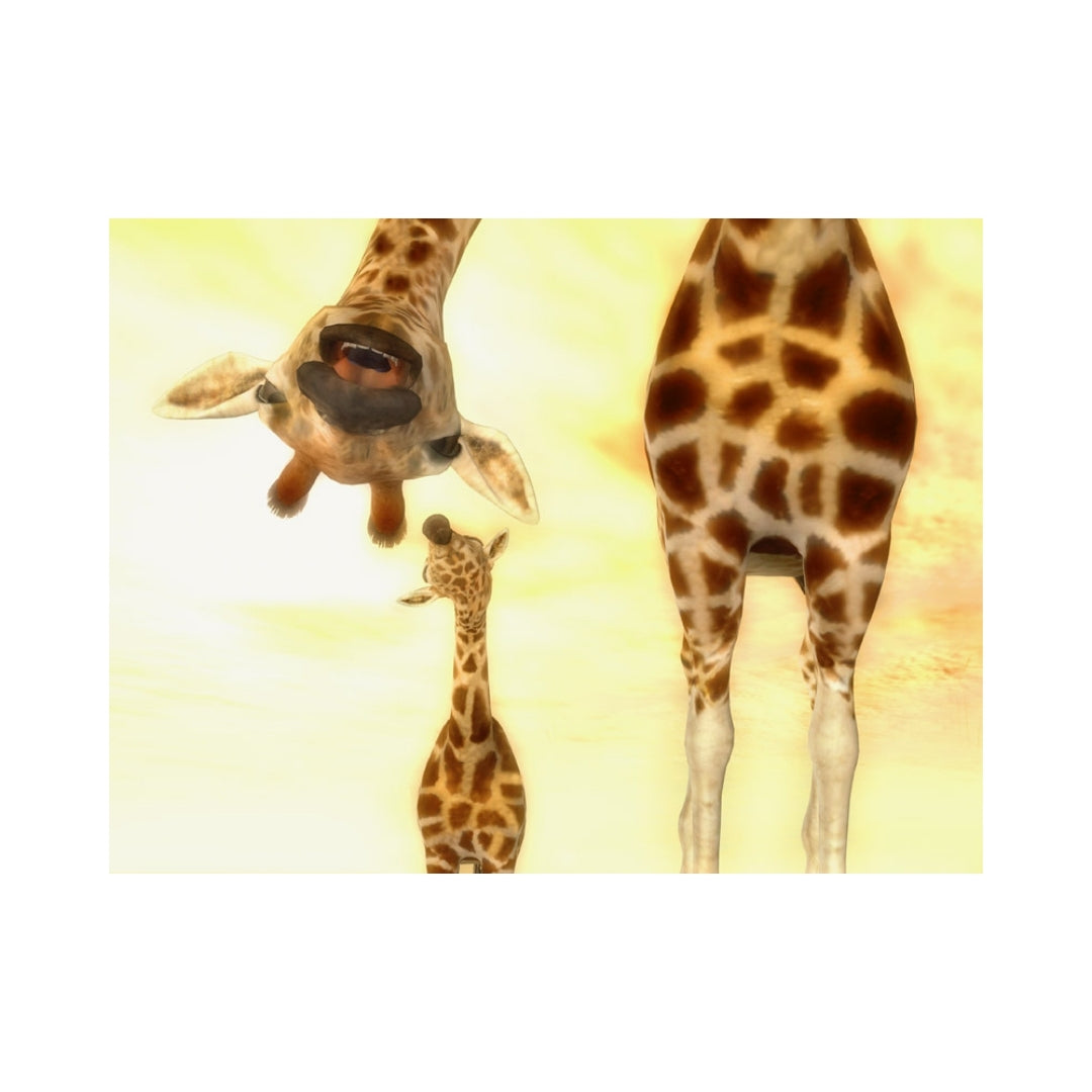 Alan Foxx GIRAFFES-Giraffe Parent Saying Hi