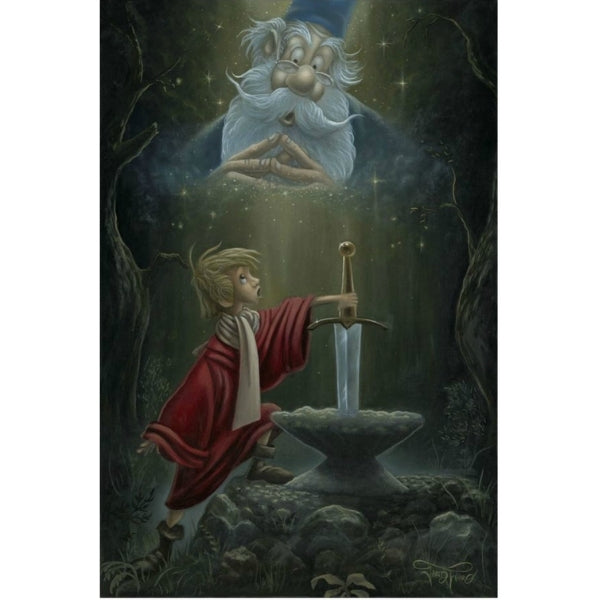 "Hail King Arthur by Jared Franco - 24"" x 30"" Limited Edition"
