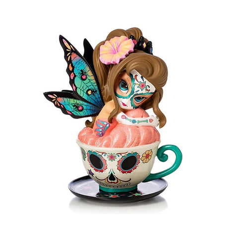 Jasmine Becket Griffith FIGURINE-Tea with Spirits-Relaxing Rose Ella