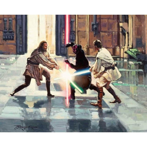 LIGHTSABER DUEL ON NABOO by Rodel Gonzalez  - Limited Edition
