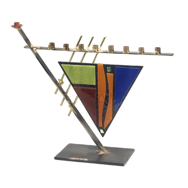Menorah - Triangular Art Deco