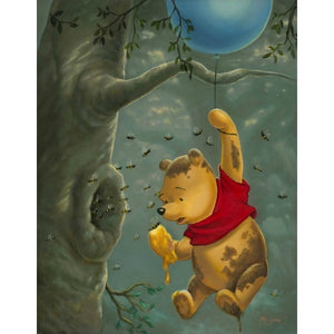 "Pooh's Sticky Situation by Jared Franco - 28"" x 22"" Limited Edition"