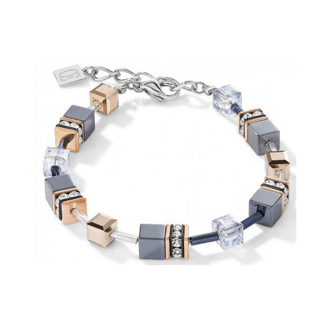 Petite Geo Cubes & Crystals - Silver & Gold - Bracelet