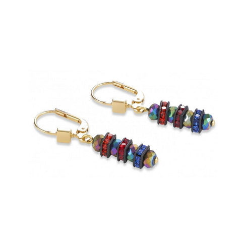 Pillow Crystals - Multicolor - Earrings