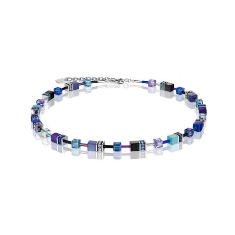 Geo Cubes & Crystals - Violet, Turquoise & Blue