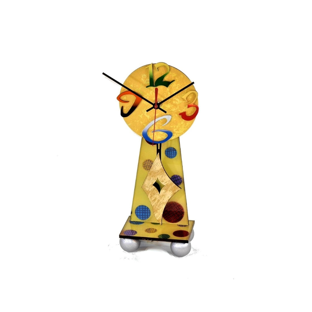 YELLOW DESK Table Clock