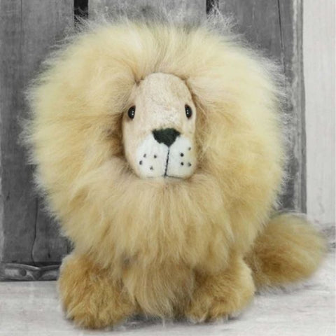 "Alpaca Stuffed Lion - 9""H"
