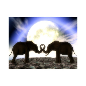 Alan Foxx ELEPHANTS- Elephants in Love in the Moonlight
