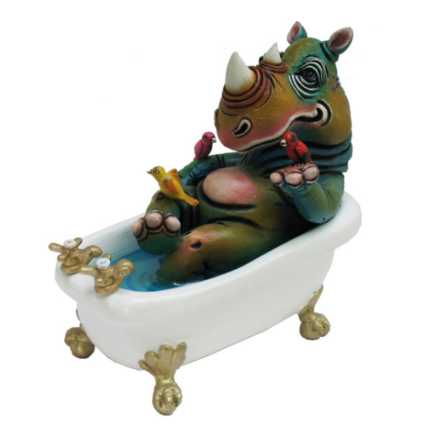 RHINO IN BATHTUB