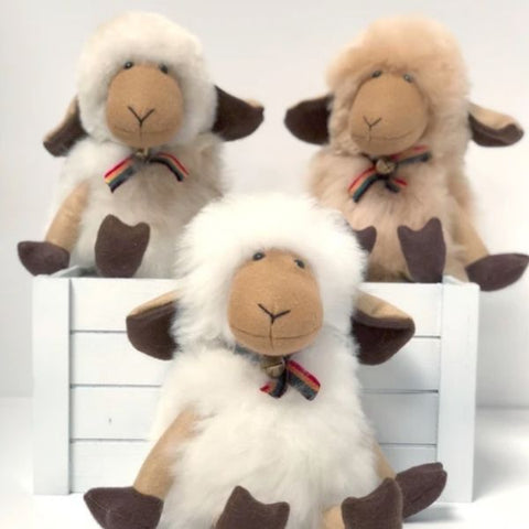 "Alpaca Stuffed Sheep - 14""H"