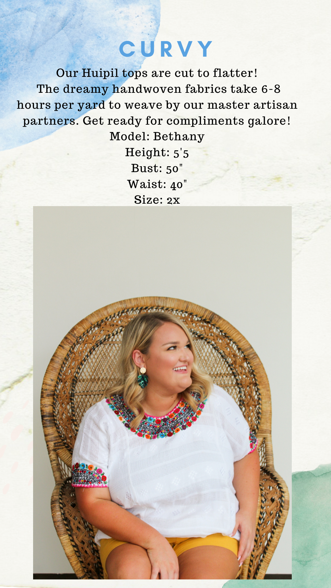 plus size mexican embroidred top