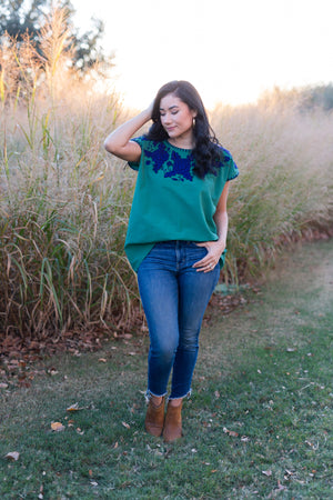 Hannah Blouse in Pine