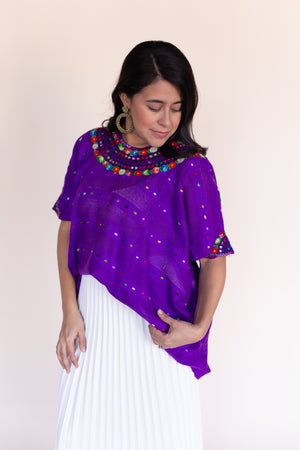 Fiesta Huipil in Plum