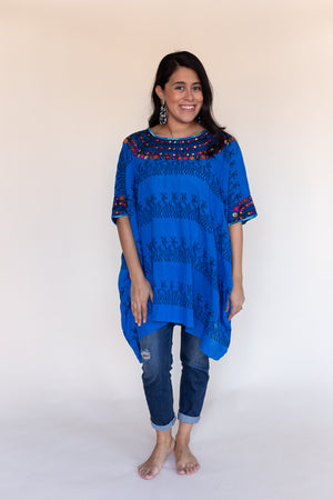 Fauna Tunic in Mayan Blue