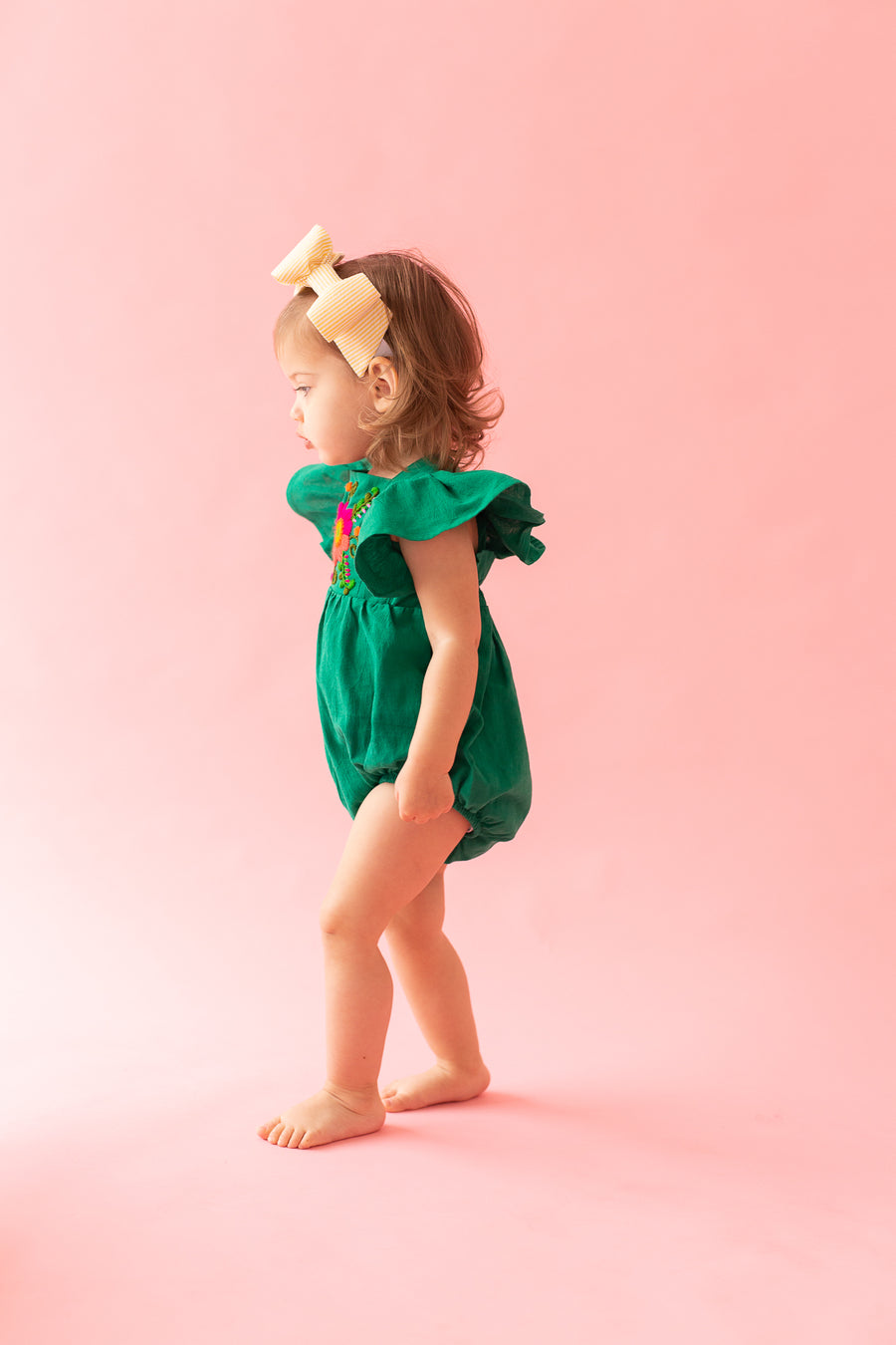 Mexican Embroidered baby romper