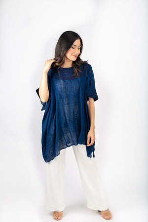 Fauna Tunic in Indigo