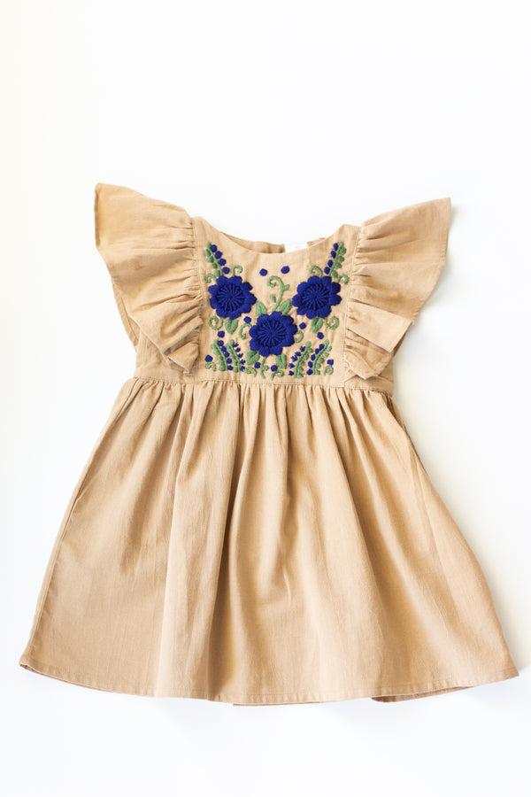 Hannah Dress in Almond