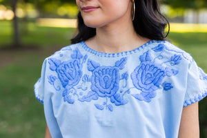 Lola Blouse in Cielo