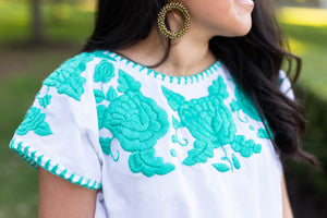 Lola Blouse in Agua