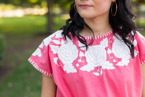 Hand embroidered womens blouse guatemala