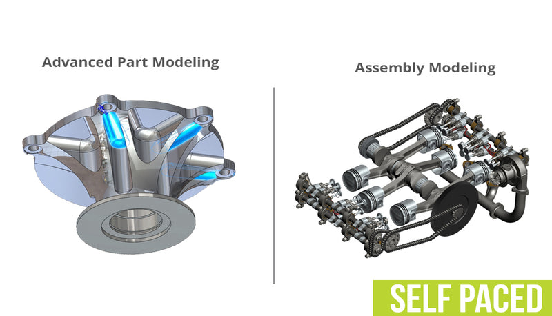 SOLIDWORKS Advanced Bundle - Self Paced Training (supported)