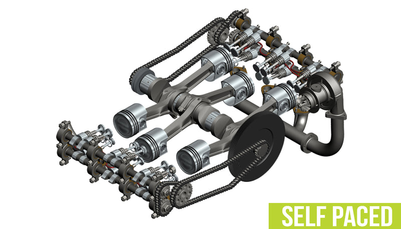 SOLIDWORKS Assembly Modeling - Self Paced Training (supported)