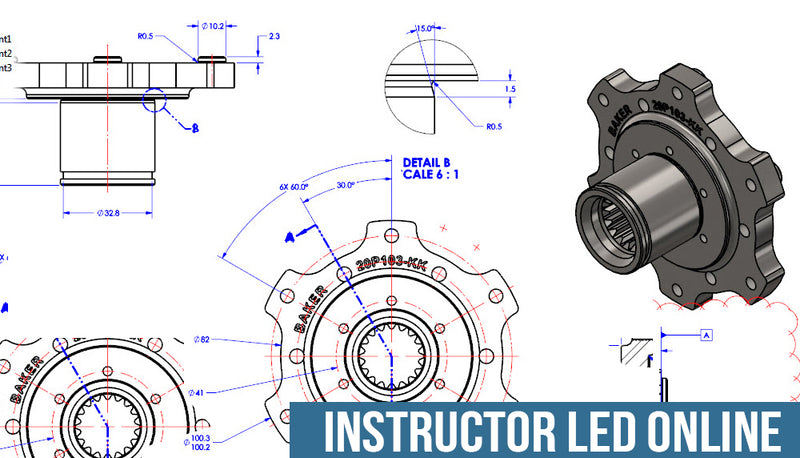 SOLIDWORKS Drawings - Instructor Led Online Training