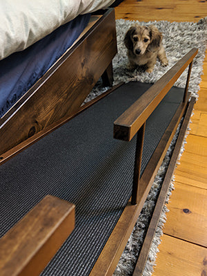 A Bed Ramp That Works For Disabled Dog Nemo With Three