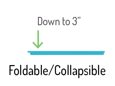 foldable and collapsible