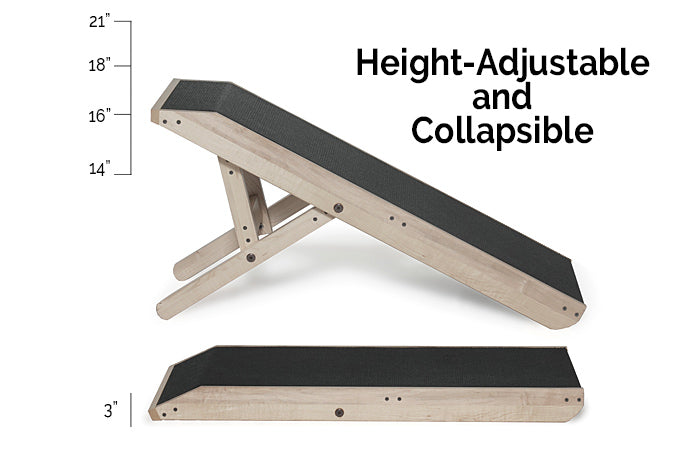 Adjustable height couch ramp for dogs