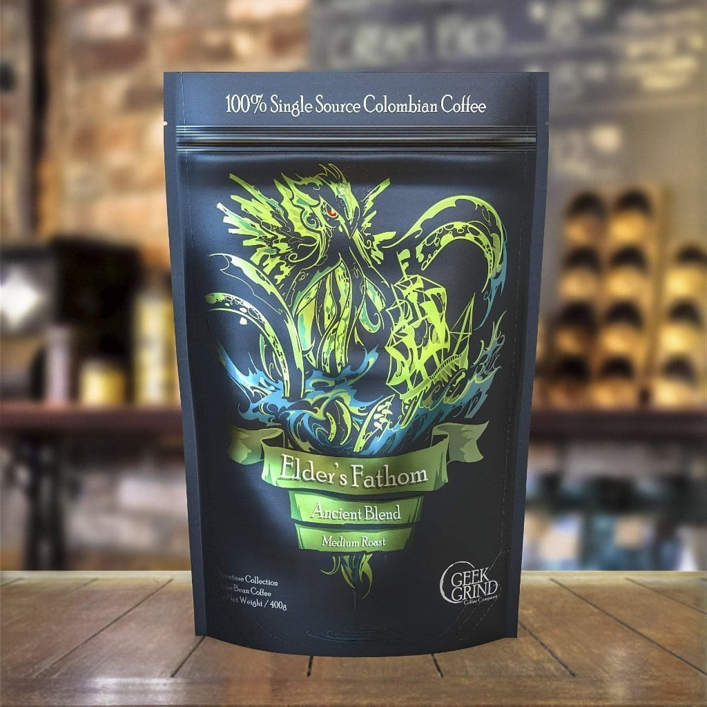 Geek Grind - Elder's Fathom -  Medium Roast Coffee - 12oz or 5lb - Whole Bean