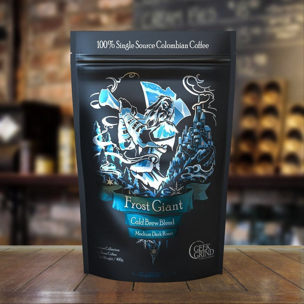 Geek Grind - Frost Giant - Medium Roast Cold Brew  - 12oz of 5lb - Whole Bean