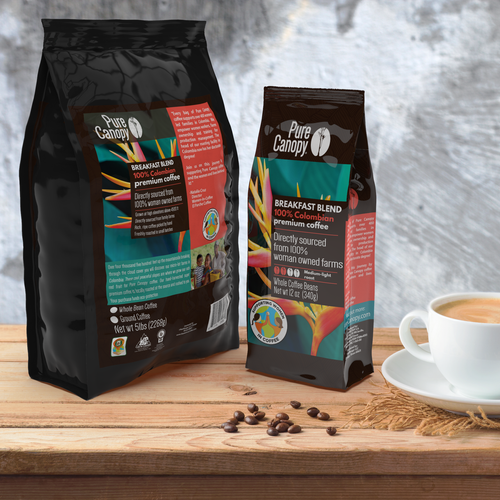 Pure Canopy - Breakfast Blend Coffee -  Whole Bean Coffee
