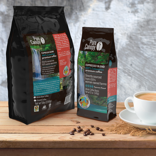 Pure Canopy - Espresso Blend Coffee - Whole Bean
