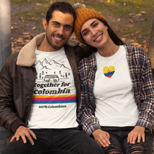 Load image into Gallery viewer, Women's T-Shirt - Together For Colombia Benefit - Hearts