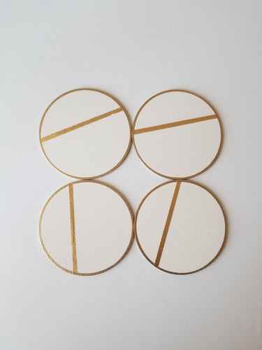 LINEA white gold coasters