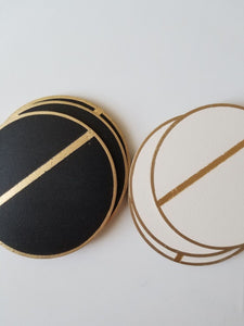 LINEA black gold coasters