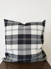 Load image into Gallery viewer, Throw Pillow Cover - Plaid B&W